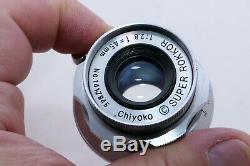 Minolta Super-Rokkor 45mm f2.8 normal lens for Leica screw mount E39x1. Sony a7R