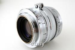 Mint Canon L 50mm F1.8 Silver LTM L39 Leica Screw Mount Lens from Japan #ab06