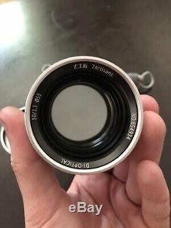 Mint silver 7artisans 50mm F1.1 Manual Focus Lens Leica M Mount
