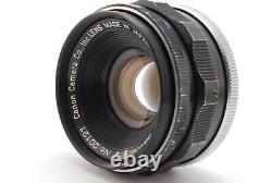 NEAR MINT+++ Canon 35mm f/2 LTM Leica L39 Screw Mount Lens Black withViewfinder