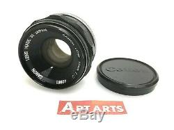 NEAR MINT Canon 35mm f/2 Lens Black for LTM L39 Leica Screw L Mount from JAPAN