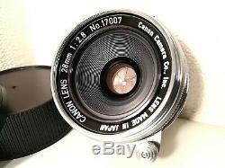 NEAR MINT /SUPER CLEAN /TestedOK Canon M39 L39 LTM Leica Screw Mount 28mm f2.8