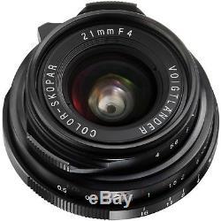 NEW Voigtlander Color-Skopar 21mm f/4 Pancake Lens Leica M Mount BA211P USA
