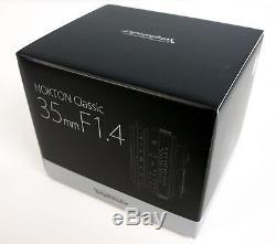 NEW Voigtlander Nokton Classic 35mm f/1.4 MC Lens Leica M Mount BA243B USA
