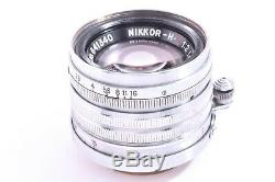 NIKKOR-H. C. 5cm 50mm f2 f/2 Nippon Kogaku Japan Leica screw mount #641340