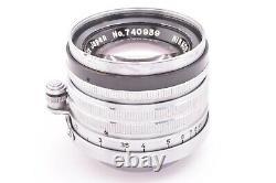 NIKKOR-H. C. 5cm 50mm f2 f/2 Nippon Kogaku Japan Leica screw mount #740939