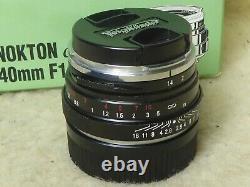 NR mint Voigtlander Nokton Classic SC 40mm f1.4 SC LEICA M MOUNT BOXED + CAPS