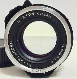 N Mint Voigtlander Nokton Classic 40mm f1.4 MC Multi MF Lens VM Leica M mount