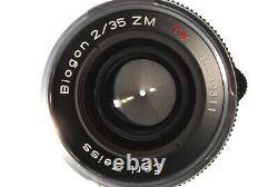 NearMintCarl Zeiss Biogon T ZM 35mm F2.0 Lens Leica M Mount fromJP(640-E457)