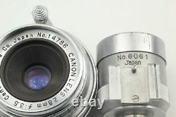 Near MINT with Finder Canon 28mm f3.5 Lens LTM L39 Leica screw Mount From JAPAN