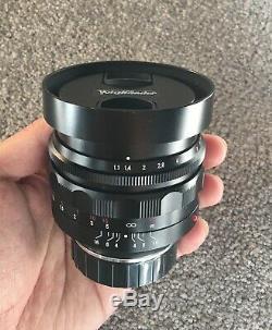 Near MintVoigtlander Nokton 50mm F/1.1 VM Leica M mount