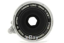 Near Mint Canon 28mm F/2.8 Leica Screw Mount LTM L39 From Japan C595