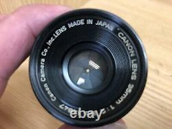 Near Mint with 35mm Viewfinder Canon 35mm F/2 LTM L39 Leica Mount From Japan