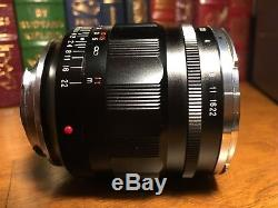 Near mint Voigtlander NOKTON 35mm F1.2 Aspherical VM II Leica M mount