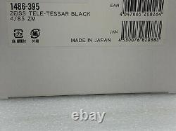 New Carl ZEISS Tele-Tessar T 85mm f4 Lens ZM Mount Leica M BLACK