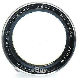 Nikon 5cm f1.1 Zunow Lens with Case for Leica Screw Mount