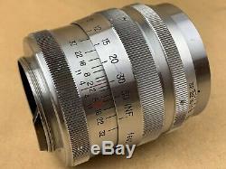 Nikon 8.5cm f/2 Nikkor P. C. Vintage 85mm Leica M39 Screw Mount Lens Nice