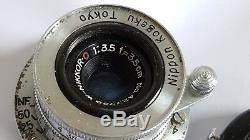 Nikon Nippon Kogaku W-NIKKOR C 3.5cm 35mm f/3.5 Leica Screw Mount LTM M39
