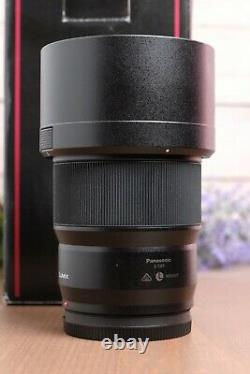PANASONIC Lumix S 85mm f/1.8 Lens (S-S85) Leica L Mount with Hood and Box