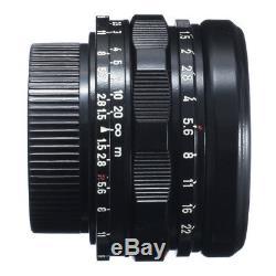 RARE! CANON 35mm F1.5 LENS LEICA 39mm MOUNT L39 BLACK REPAINT CLA'd / EX++ 90D W