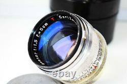 RARE CARL ZEISS JENA SONNAR T 11.5 f=50mm Rangefinder M39 Leica LTM mount EXC