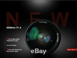 REAL EU SHIP! 7Artisans 28mm f/1.4 Aspherical lens for Leica-M-mount 28/1.4