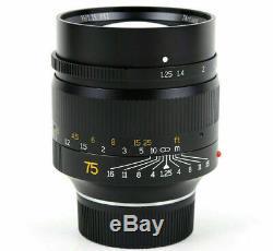 REAL EU SHIP! 7Artisans 75mm f/1.25 lens, Leica-M-mount IN-STOCK 75/1.25