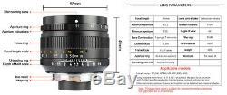 REAL EU SHIP! Black, 7Artisans 50mm f/1.1 manual lens for Leica-M-mount 50/1.1