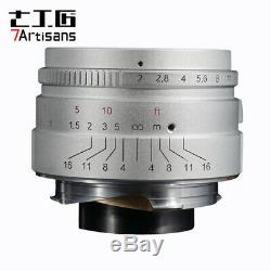 REAL EU SHIP! SILVER, 7Artisans 35mm f/2.0 for Leica-M-mount Wide-Angle lens