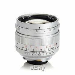 REAL EU SHIP! SILVER, 7Artisans 50mm f/1.1 manual lens Leica-M-mount 50/1.1