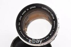 Rare CANON 50mm/F1.2 Leica 39mm LMT screw mount #44179