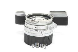 Rare Leica Leitz 35mm f1.4 Summilux M Mount Rangefinder Lens, Steel Rim #28276