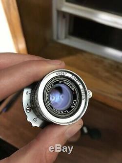 Rare Nikon W-NikkorC 3.5cm 12.5 F2.5 35mm Leica LTM Mount Lens w Caps And Case