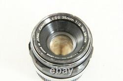Read Canon 35mm f/2 f 2 Leica Screw Mount L39 LTM MF Lens from Japan #2957