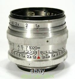 Red Jupiter-3 1,5/50 mm lens M39 Zorki Leica M39 mount. Excellent. 6004223