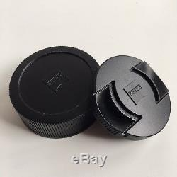 Reduced Zeiss Planar 50mm F2 Zm Lens Leica M Mount & Lens Hood Boxed & Papers