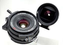 Ricoh GR Lens 21mm F3.5 Leica L39 screw mount + M mount Adapter + shoe Finder