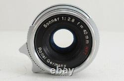 Rollei Sonnar 40mm F2.8 HFT MF Lens Silver for Leica L39 Screw Mount #201003b