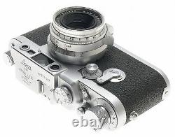 SUMMARON SILVER 12.8/35mm SCREW MOUNT M39 LENS WITH LEICA IIIG FILM CAMERA f=35