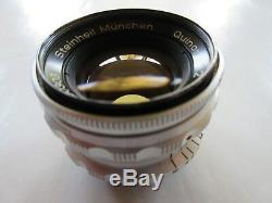Steinheil München Quinon 2/50mm, M39 / screw mount / Braun Super Paxette, Leica