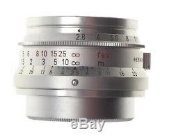 Summaron 2.8/35 Screw mount LTM M39 Leitz chrome f=35mm prototype infinity lock