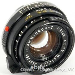 Summicron-C 40mm F2 SHARP Lens in Leica CL LEICA-M Voigtlander KONICA M Mount