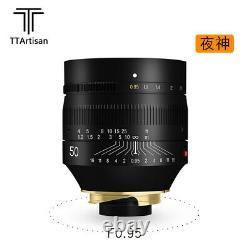 TTArtisan 50mm F0.95 MF Full frame Large Aperture Lens for Leica M mount Cameras