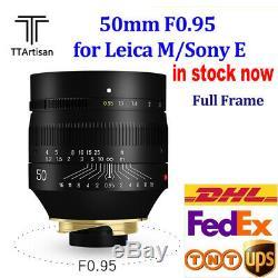 TTartisan 50mm F0.95 Lens Super Aperture for Leica M mount M9 M10 Camera Lens