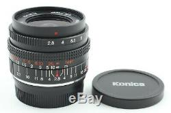 UNUSED Konica M-Hexanon 28mm F/2.8 Lens for Leica M Mount From JAPAN #0743