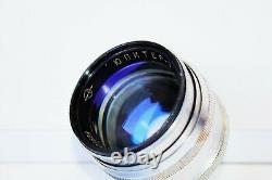 VERY RARE 1963 SILVER JUPITER-3 50mm f/1.5 Soviet lens Leica LTM M39 mount EXC