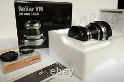 VOIGTLANDER 13.5/50mm HELIAR VINTAGE LINE VM LEICA M MOUNT FIT BOXED M9 240 M10