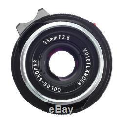 VOIGTLANDER COLOR-SKOPAR 35mm F2.5 P II VM LENS 4 LEICA M MOUNT / LN / 90D WRT