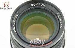 Very Good! Voigtlander NOKTON 50mm f/1.5 Aspherical Black L39 Leica Screw Mount