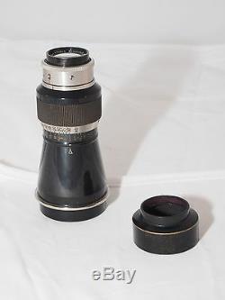 Vintage Leica Mountain Elmar 10.5cm f/6.3 lens. Leica II & Leica Standard camera